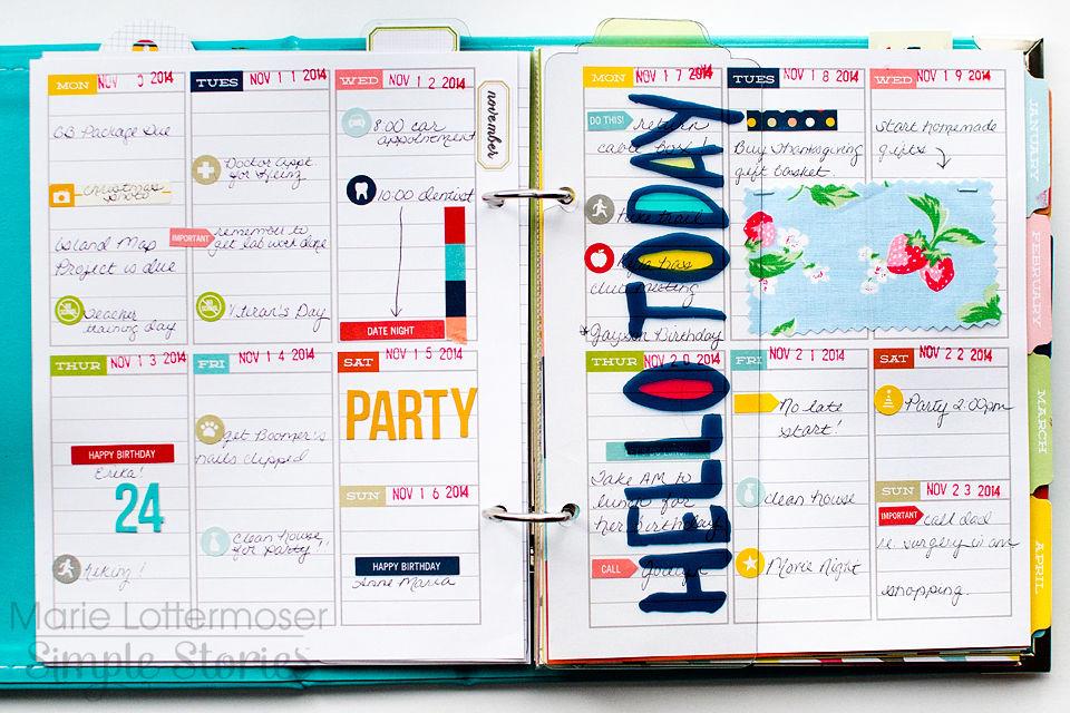 simple stories planner stitch in time