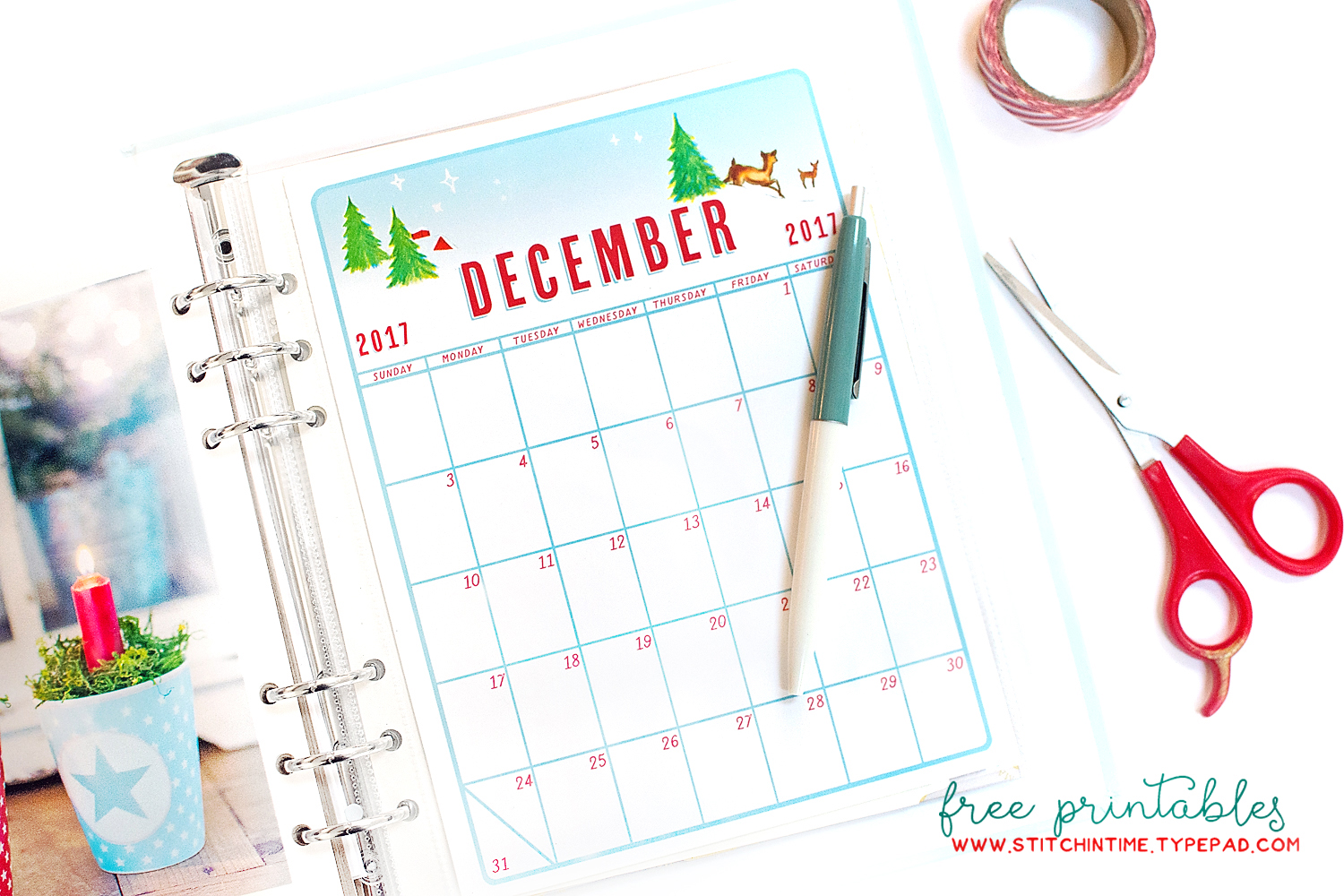 Ive Been Busy Making Plans For My December Daily This Year And The First Thing I Wanted To Do Was Make A Calendar Front